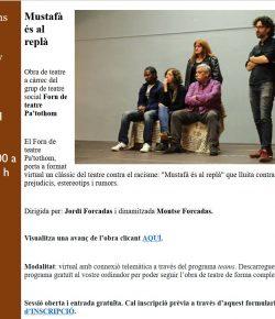Llega «Mustafà és al replà» en formato virtual