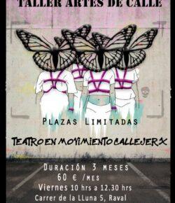 Taller Artes de Calle – Teatro en Movimiento Callejerx